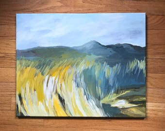 Abstract Landscape art, original art, Pennsylvania rural painting, Mountain painting, farm field, abstract landscape, Pennsylvania rural