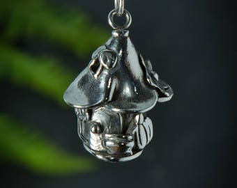 Silver Enchanted Faerie Cottage handmade