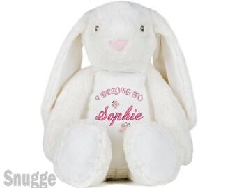 Personalized bunny etsy personalised baby girl bunny i belong to personalized bunny rabbit personalised negle Choice Image