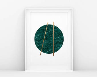 Green Gold Marble Print - Abstract Print - Minimalistic Print - Marble Print - Minimalist Art - Printable Wall Art - Scandinavian Nordic Art