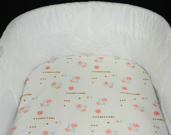 Bassinet Sheet -  Rose Milk - Moses basket sheet