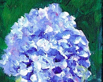Purple Hydrangea 4 – Acrylic – Original Painting