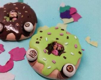 Green Donut Brooch