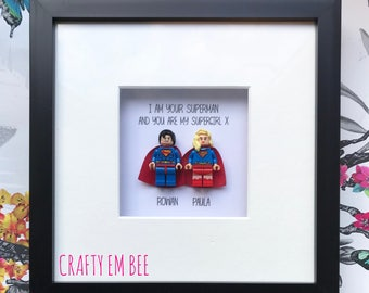 Personalised Lego Love Sidekick Scrabble Frame