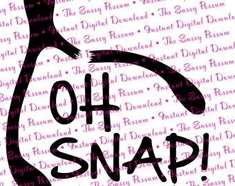 Oh Snap! Wish Bone, SVG, DXF, Instant Digital Download