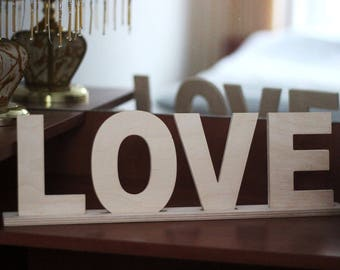 Love Wooden Letters, Love sign, Love decor, Table sign wooden letters, Love sign for wedding table , Table sign, Family sign, Couple Gift