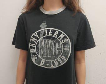 Vintage DKNY Active T-shirt 1990s DKNY Activewear Tee Shirt