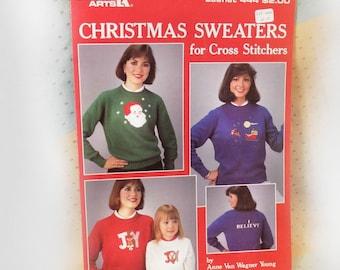 Christmas cross stitch pattern  - Santa cross stitch  pattern , Holiday pattern - Christmas Joy pattern ,sweater cross stitch pattern -# 10
