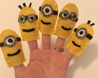 Minion Finger Puppets