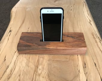 Maple phone stand