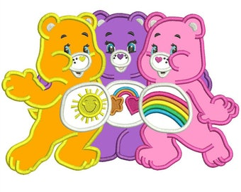 Care Bears Applique Design 4 sizes instant download