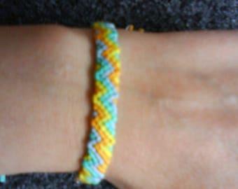 LoliRosa Handmade Self-Tie Zig Zag Style 2 Friendship Bracelet Festivals Beach