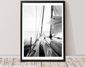 Nautical Photography Wall Art Print, Digital Download, Instant download, Printable Large Poster, Coastal Decor, Wall Printable decor