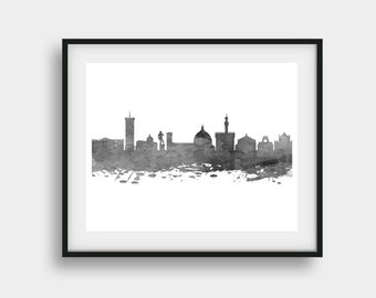 Florence Print, Florence Skyline, Florence Art, Florence Italy, City Skyline Art, Home Decor, Office Decor, Florence Poster, Florence Gift