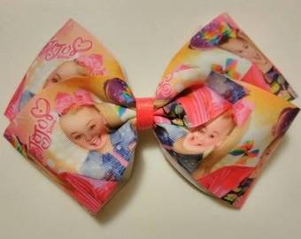 """JoJo Siwa hair bow, JoJo bow, pink hair bow, JoJo headband 7"""" hair bow, rainbow hair bow, Dance moms hair bow, large hair bow"""