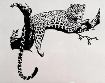 Sticker mural Léopard