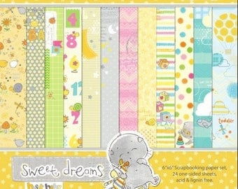 24 papers 15.2 x 15.2 cm SCRAPBERRY's SWEET DREAMS