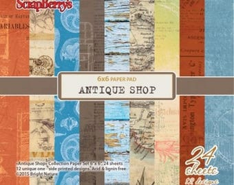 24 papers 15.2 x 15.2 cm SCRAPBERRY's ANTIQUE SHOP