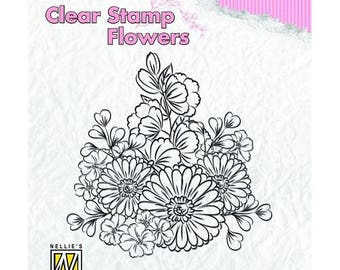 Stamp clear transparent scrapbooking NELLIE's CHOICE flowers