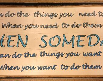 Someday saying