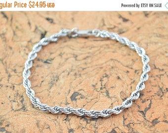 HUGE Sale Rope Chain Bracelet Sterling Silver 8.3g