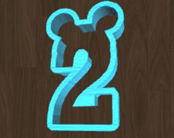 You Pick Mickey Number Cookie Cutter