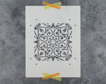 Arabesque Stencil - Reusable DIY Craft Stencils of an Arabesque Ornament Pattern