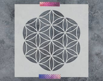 Flower of Life Stencil - Reusable DIY Craft Stencil of Flower of Life - Sacred Geometry Stencil