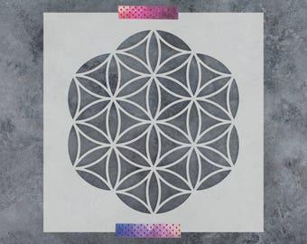 Flower of Life Stencil - Reusable DIY Craft Stencil of Flower of Life - Sacred Geometry Stencil