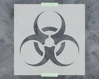 Biohazard Stencil - Reusable DIY Craft Stencils of a Biohazard Symbol