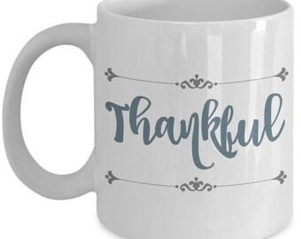 Thankful Farmhouse Mugs | Farmhouse Decor | Farmhouse Kitchen | Farmhouse Style | Christian Gifts | Mothers Day | Birthday Gift for Mom Her