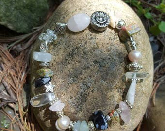 stretch crystal fertility spell bracelet for pregnancy and childbirth, gift bag and detailed printout