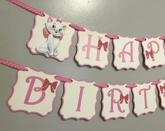 Aristocrats Marie Birthday Banner / Arisocrats Banner / Marie party decor / Marie banner