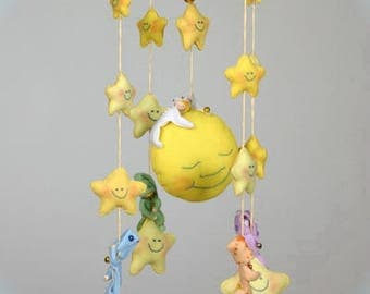 Made to Order Baby Chandelier Felt Mobile Crib - Dreaming upon Stars