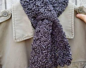 Crochet Keyhole Scarflet in Sparkling Sidesaddle Woodsmoke