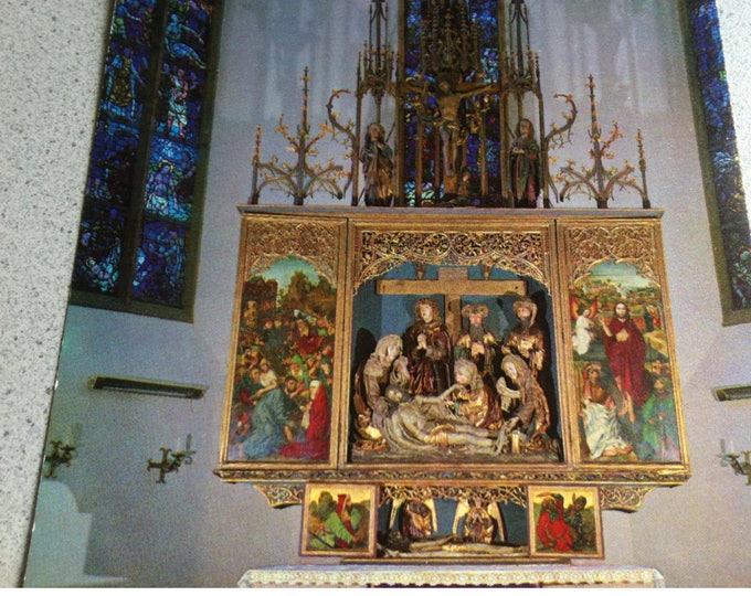Vintage Religion Nuremberg Friedenskirche Church Postcard Maria Photo
