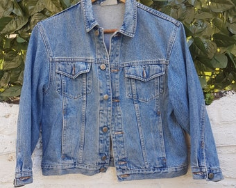 Vintage 80s Benetton Crop Denim Jacket