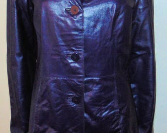 Purple Leather Coat From Danier Leather