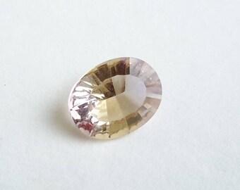 Ametrine, 1.50 ct ametrine loose gemstone, oval ametrine, 10 mm x 8 mm x 5 mm, ametrine gem, gemstone, genuine gemstone ametrine