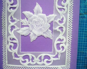 Mother's day decoration pergamano 3D card