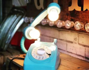 Retro Floating Telephone Light (Light Blue)