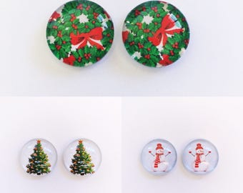 The 'Christmas Special' Glass Earring Studs