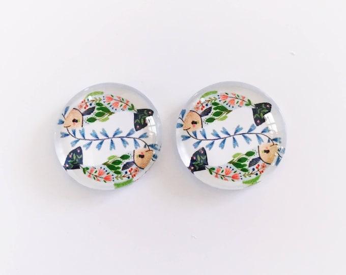 The 'Raina' Glass Earring Studs