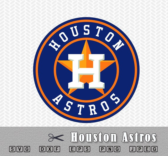 Svg Houston Astros Baseball Layered Logo Vector Cut File