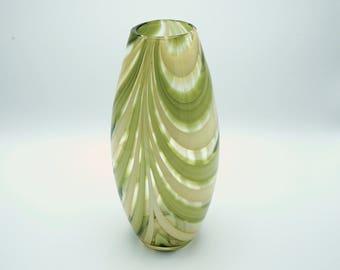 Vintage glass vase, 1960's green glass vase, retro style vase, retro green vase,vintage vase, retro vase,vintage glassware, glass vase, gift