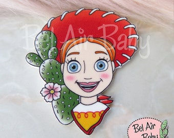 Cowgirl Jessie Brooch or Fridge Magnet / Pin / Badge / Rockabilly / Retro / Cactus / Toy Story / Western