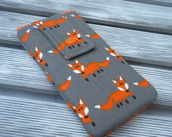 iPhone SE Case, Fox, iPhone 7 Sleeve, iPod 6G, iPhone 6S sleeve, iphone 5 Pouch, iPhone 7 Plus Case, iPhone 7 Case, Gift for Women, Foxes
