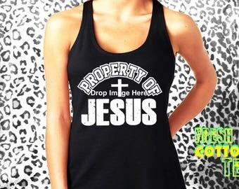 Property of Jesus- tank top womens tank