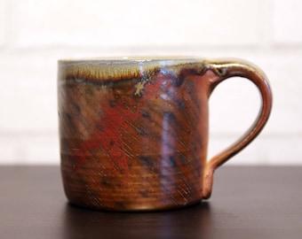 Wood Fired All Over Pattern Mug