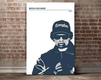 Eazy E Wall Art - Eazy E Decor - Eazy E Wall Art - Hip Hop - Digital Illustration - Music Print - NWA Wall Art - NWA Decor - Boys N The Hood